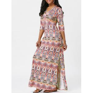 Bohemian High Slit Maxi Dress