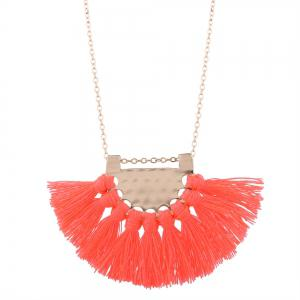 Alloy Lock Charm Tassel Necklace
