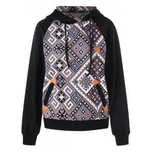 Inclined Zipper Graphic Hoodie