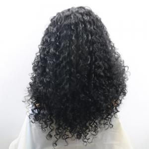 Long Free Part Shaggy Curly Synthetic Lace Front Wig - BLACK