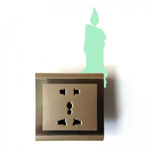 Fluorescent Candle Shape Switch Wall Sticker -
