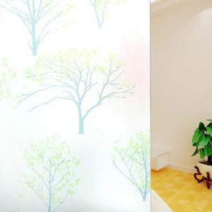 PVC Electrostatic Film Life Tree Glass Wall Decal - GREEN