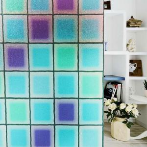 Modern PVC Electrostatic Grid Glass Wall Sticker -