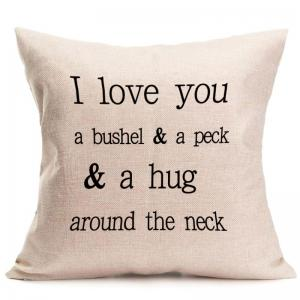 Letters Graphic Pattern Square Pillow Case -