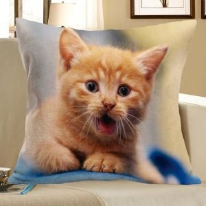 Cat Pattern Decorative Pillow Case