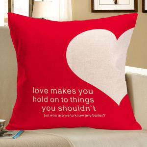 Love Heart Pattern Square Pillow Case
