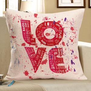 Love Tie Dye Printed Square Pillow Case