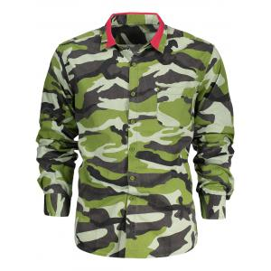 Chest Pocket Camo Long Sleeve Shirt