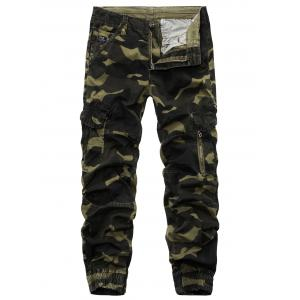 Camouflage Beam Feet Cargo Pants - Army Green - 30