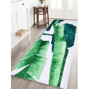 Non Slip Watercolor Leaf Floor Bath Area Rug