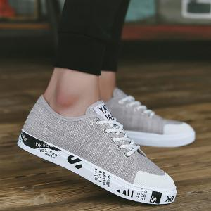 Tie Up Letter Print Casual Shoes -