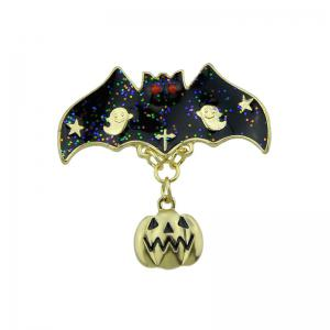 Halloween Pumpkin Bat Ghost Star Brooch