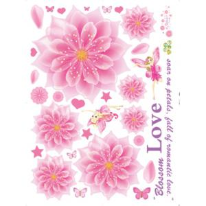 Blooming Flower Decorative Wall Decal -