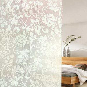 PVC Electrostatic Flower Glass Wall Decal - WHITE