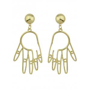 Funny Metal Ball Hand Earrings