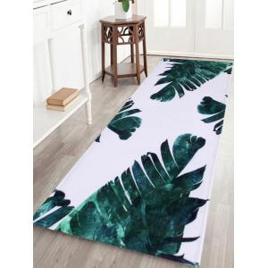 Watercolor Leaf Non Slip Bathroom Area Rug