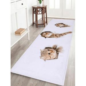 Larger Water Absorbent Through Wall Cats Bath Rug - White - W24 Inch * L71 Inch