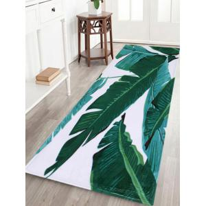 Indoor Outdoor Watercolor Leaves Pattern Area Rug