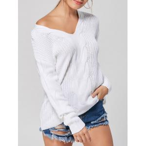 Casual V-neck Knit Sweater