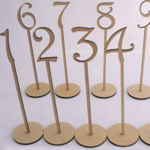 Wedding Birthday Wooden Table Numbers -