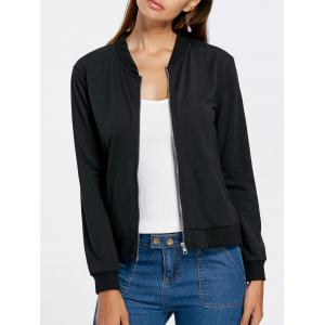 Short Casual Zip Up Jacket