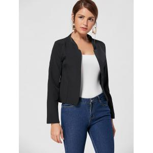 Long Sleeve Cropped Blazer - BLACK XL