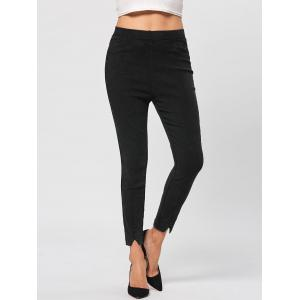 Elastic Wasit Denim Pencil Jeans - Black - 2xl