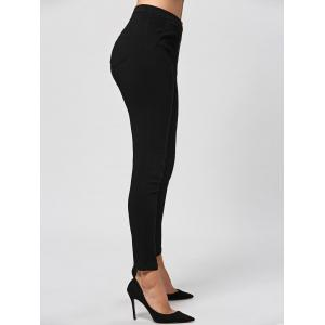 Zip Fly Fitted Pants - Noir M