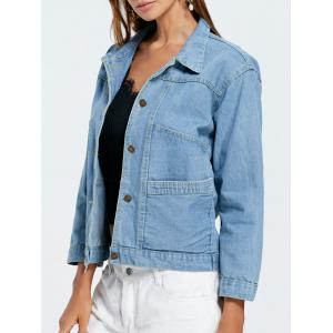 Poches Button Up Denim Jacket -