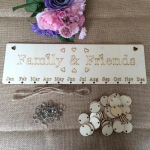 DIY Wooden Family And Friends Birthday Calendar Board - ROUND