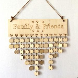 DIY Wooden Family And Friends Birthday Calendar Board -