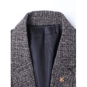 Edging Lapel Metal Detail Woolen Blazer -