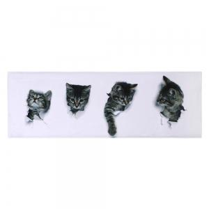 Home Entrance Cute Cats Coral Velvet Rug -