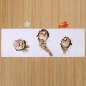Larger Water Absorbent Through Wall Cats Bath Rug -
