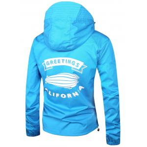 Retour imprimé graphique Zip Up Windbreaker Jacket -