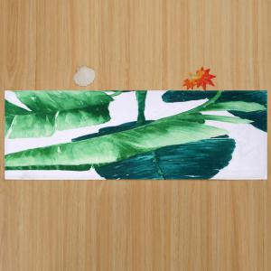 Non Slip Watercolor Leaf Floor Bath Area Rug -