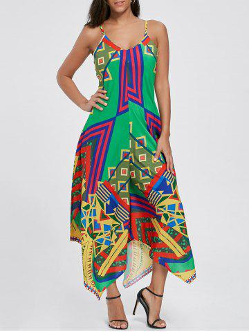 Sale Asymmetrical Printed Cami Palazzo Jumpsuit - XL COLORMIX Mobile
