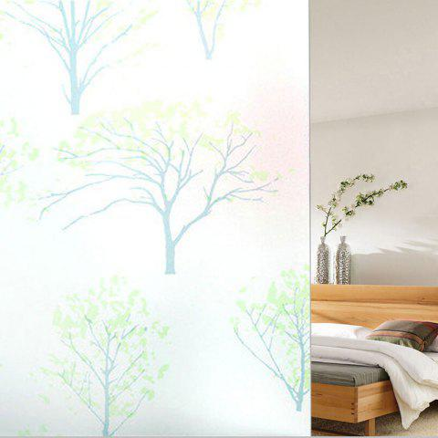 Cheap PVC Electrostatic Film Life Tree Glass Wall Decal GREEN