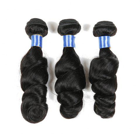 Best 1Pc Indian Long Loose Wave Human Hair Weave - 18INCH NATURAL BLACK Mobile