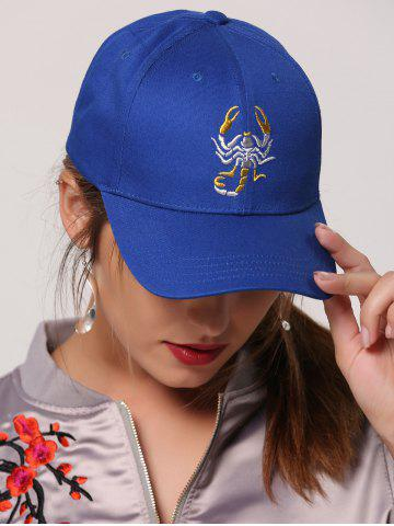 Sunscreen Scorpion Embroidered Baseball Cap - Royal - One Size