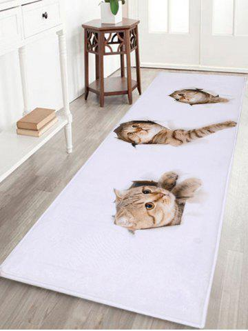 Sale Larger Water Absorbent Through Wall Cats Bath Rug - W16 INCH * L47 INCH WHITE Mobile