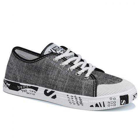 Outfits Tie Up Letter Print Casual Shoes