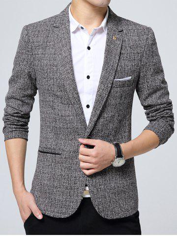 Best Edging Lapel Metal Detail Woolen Blazer
