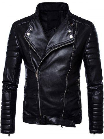 Sale Belted Convertible Zip Up Biker Jacket