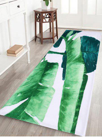 Trendy Non Slip Watercolor Leaf Floor Bath Area Rug