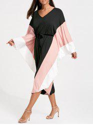 Cut Out Batwing Sleeve Palazzo Jumpsuit