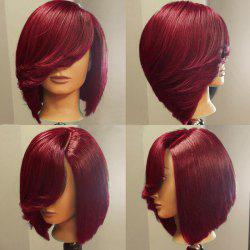 Deep Side Upward Part Short Straight Inverted Bob Synthetic Wig