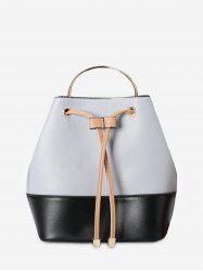Colour Block Metal Handle Tote Bag