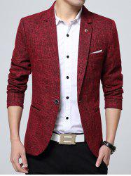 Edging Lapel Metal Detail Woolen Blazer