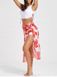 Print Three Piece High Neck Swimsuit